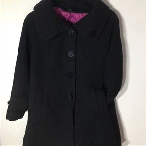 H&M Black Thick Knee Length Coat